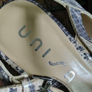 Unisa Shoes - Unisa Snakeskin Cork Wedge Sandal